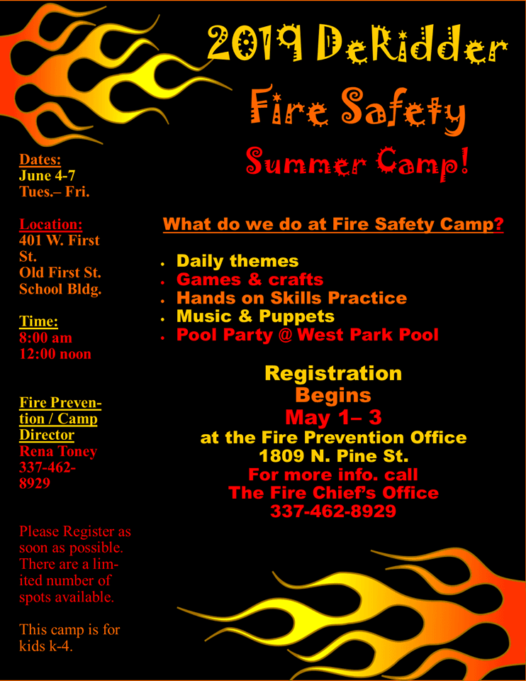 fire safety camp registration