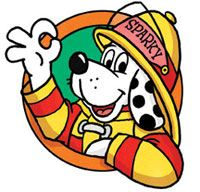 Sparky the Fire Dog Illustration