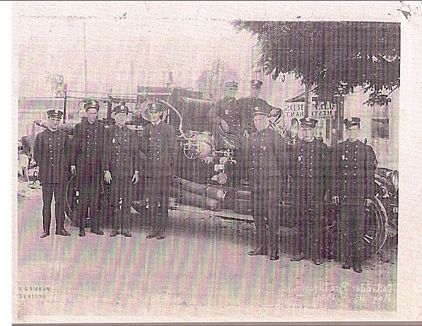 1924 Photo Of The Fire Department